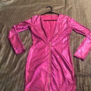 Pink metallic birthday dress!